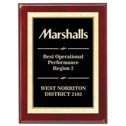 Corporate Rosewood Plaque