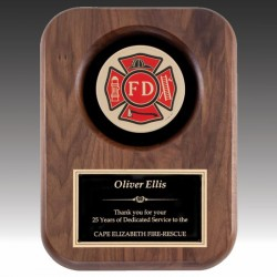 Firefighter Award Plaque