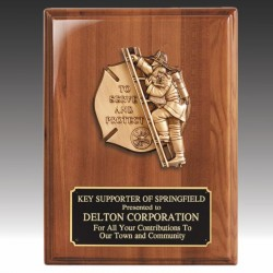 Firefighter Award Plaque