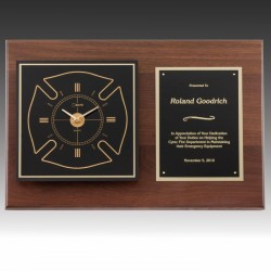 Firefighters Clock Plaque