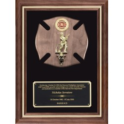 Firefighters Plaque Award