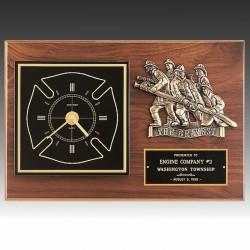 Firefighters Clock Plaque
