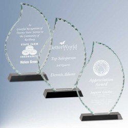 Faceted Flame Glass Award