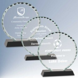Faceted Round Glass Award