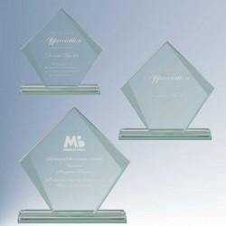 Diamond Design Jade Glass...