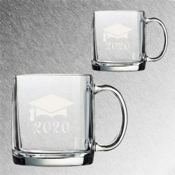 Glass Coffee Mug 2020 Graduate
