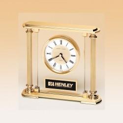 Goldtone Pillar Clock Award