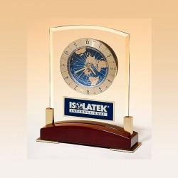 World Time Glass Award Clock