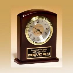 Rosewood Desktop Clock