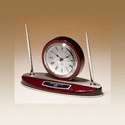 Silver Accented Clock and...